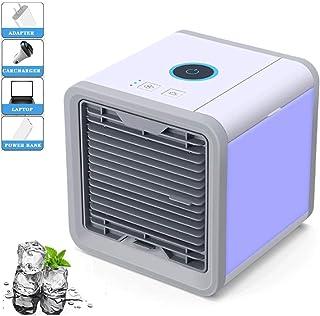 LJMG Misting Fan Water Cooler Office Mini Air-Conditioning Fan, Small Household Air-Conditioning Fan, Student Dormitory Desktop USB Humidification Small Fan (Color : White, Size : 16.517.616.8cm)