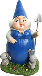 DIG Lady Blueberry with Bunnies Garden Statue, 11.8 by 7.25-Inch