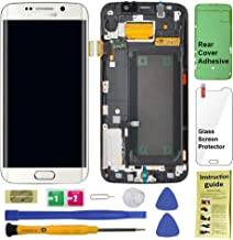 Display Touch Screen (AMOLED) Digitizer Assembly with Frame for Samsung Galaxy S6 Edge (5.1 inch) G925A (AT&T) / G925T (T-Mobile) / G925F (Global) (for Phone Repair Replacement) (White Pearl)