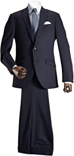 【MARUTOMI】スーツ メンズ 2つボタン スリムスーツ ウール混素材 秋冬 洗えるパンツウォッシャブル プリーツ加工 スリム メンズスーツ ビジネススーツ 紳士 suit AC02