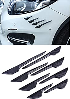 Tesla Model 3 Front Lip Spoiler Splitter Carbon Fiber Style Universal Front Bumper Easy to Install Fit for Most of Cars 8PCS