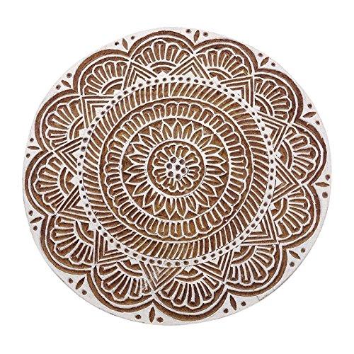 Holz-Block-Stempel Scrapbook Stempel Blumen Indischen Textildruckblock