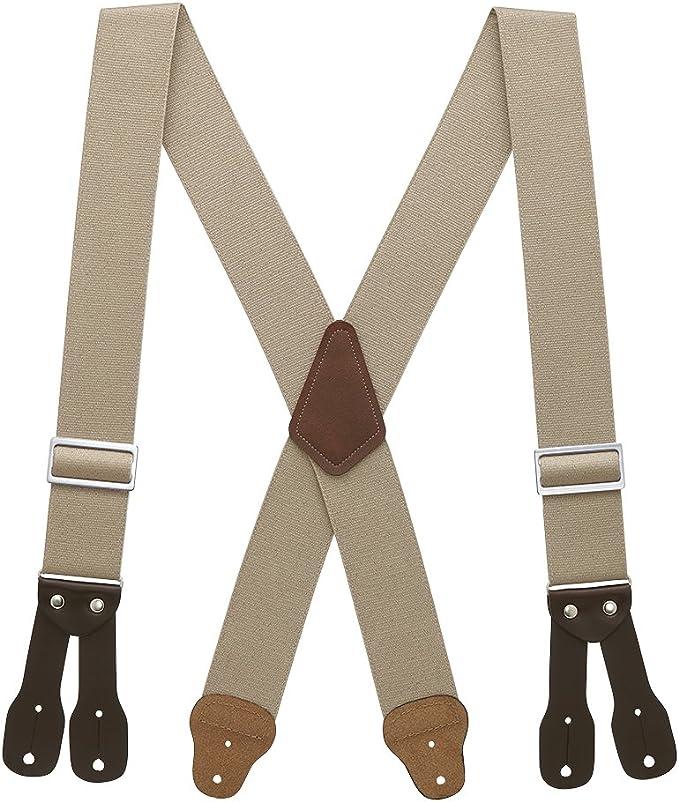Men's Vintage Style Suspenders Braces SuspenderStore Mens Logger Suspenders - BUTTON (4 sizes 5 colors)  AT vintagedancer.com
