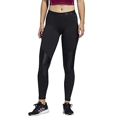 adidas Alphaskin Glam on Tights (Black/White) Women