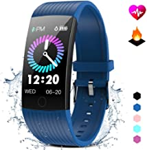GOKOO Fitness Tracker HR Activity Tracker Watch with Heart Rate Monitor Blood Pressure Sleep Monitor Waterproof Smart Fitness with Step Calorie Counter Pedometer Watch for Men Women Kids