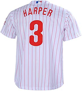 1aae64ad425 Outerstuff Youth 8-20 Bryce Harper Philadelphia Phillies Base Player Jersey