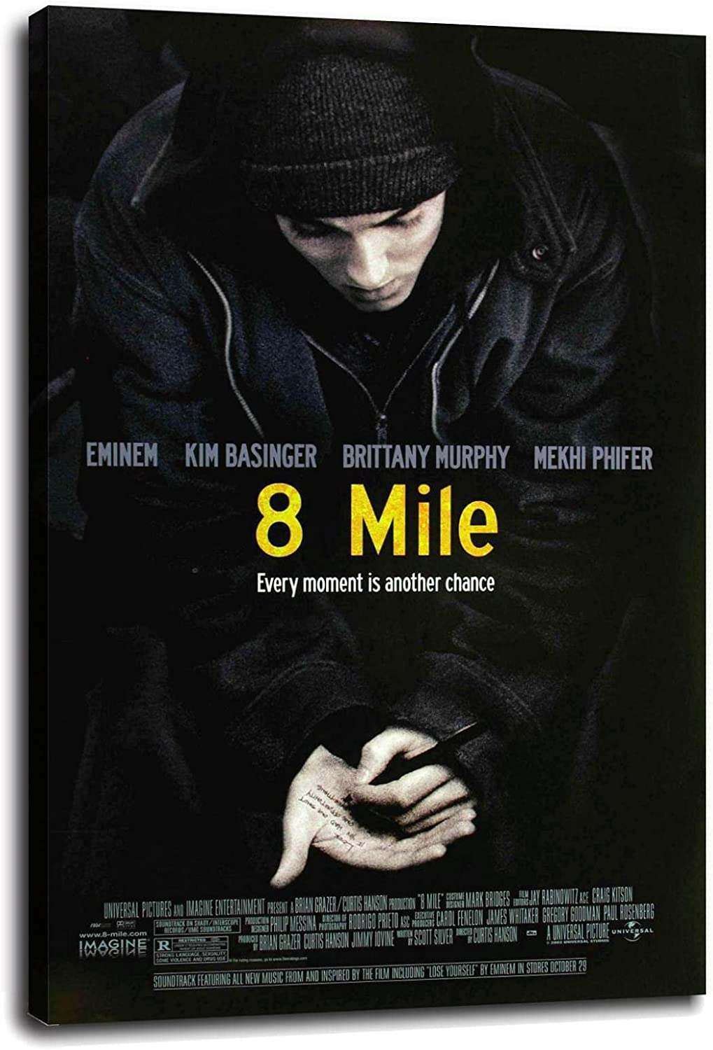 2002 8 MILE - Movie Film Canvas Ranking integrated Oklahoma City Mall 1st place DecorWall Poster Art Home