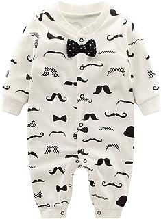 7974e4fc9758b Vine Pyjama Bébé Fille Garçon Grenouillère Combinaisons en Coton Bouton à  Manches Longues Chaud Pyjama Déguisement