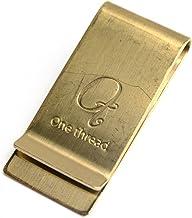 (ワンスレッド) One thread マネークリップ ワイド 真鍮 ソリッドブラス 日本製 金色 無垢 ゴールドカラー OT-MC