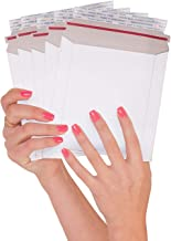 ABC 25 Pack Rigid envelopes 6 x 6. Paperboard mailers 6x6. Stay Flat Chipboard envelopes. White Rigid Photo Document Mailer. No Bend, for mailing CD disks, Photos. Peel and Seal. Wholesale price