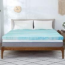 Milemont Mattress Topper Full, 2-Inch Cool Swirl Gel Full CertiPUR-US Certified Blue