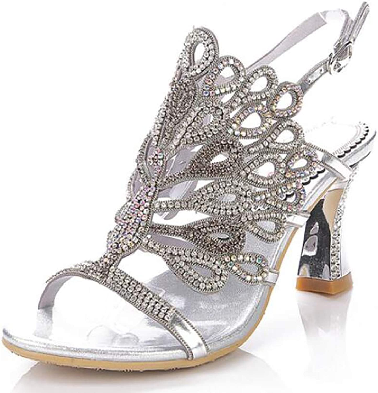 Stiletto Sandals Fashion Evening Women Jewelry Pearl Rhinestone Diamond High Heels 8CM
