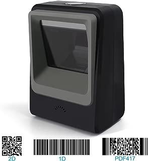 Handsfree 2D 1D Barcode Scanner,Alacrity QR Omnidirectional Desktop Bar Code Reader Scanner, Capture Barcodes from Mobile Phone Screen, Black