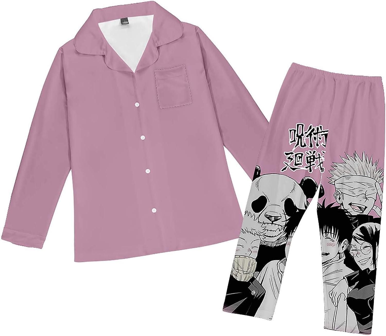 Unisex Jujutsu Kaisen Set Ropa de Dormir de Manga Larga de ...