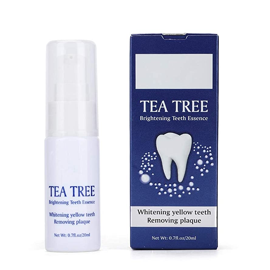喜び故意の誇大妄想白くなるティーツリーの歯はプラークの汚れを取り除きます