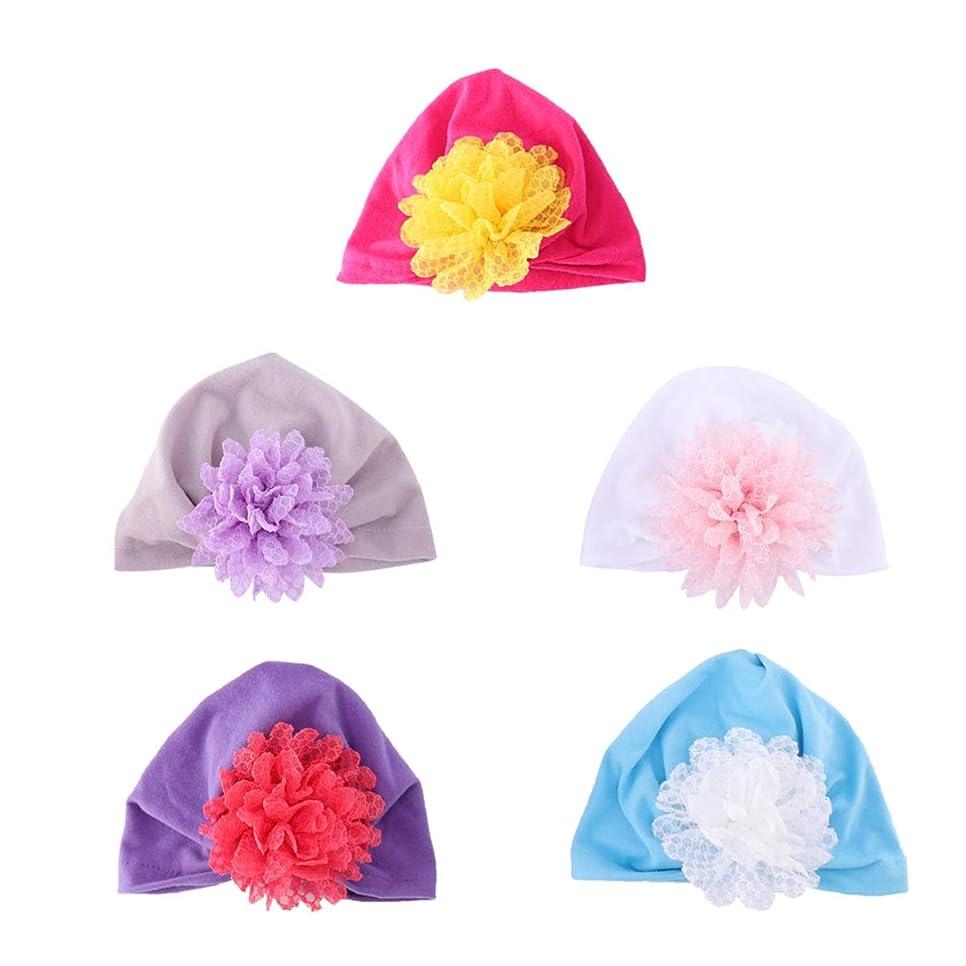 重要性普遍的な溶融Hakka 5ピース赤ちゃんビーニー帽子通気性綿キャップ幼児キャップ夏帽子赤ちゃん幼児新生児