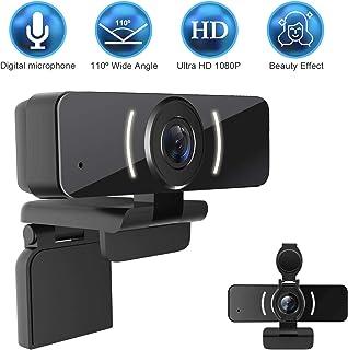 Cámara web 1080P con micrófono y cubierta de privacidad, cámara web USB, cámara web de transmisión HD para ordenador de sobremesa y portátil con micrófono