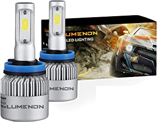 Lumenon LED Headlight Bulbs Conversion Kit 180W 180000LM 6000K Cool White 2 Yr Warranty (H11 H9 H8)