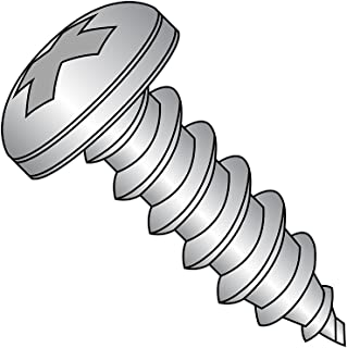 Phillips Drive Plain Finish 1-3//4 Length 18-8 Stainless Steel Sheet Metal Screw Pack of 25 Pan Head #8-15 Thread Size Type A