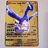 Pokemon Shadow Lugia GX Gold Metal Card (Replica)