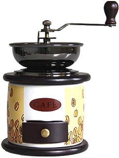 DJDLLZY Koffiezetapparaat, handmatige koffiemolen retro hand koffiemolen opslag compact formaat met kleine lade hand crank...
