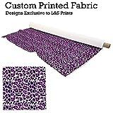 Pink Leopard Print Design Digitale Print Stoff Strick