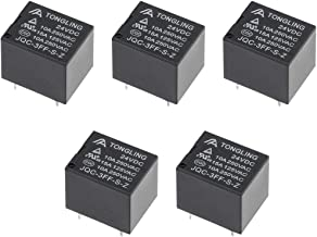 uxcell 5 Pcs JQC-3FF-S-Z DC 24V Coil SPDT 5 Pin PCB Electromagnetic Power Relay