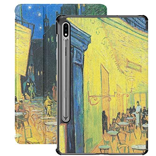 Cafe Terrace At Night di Vincent Van Gogh Custodia per tablet Samsung per Samsung Galaxy Tab S7 / s7 Plus Custodia per tablet Stand Cover posteriore per tablet per Galaxy Tab S7 11 pollici S7 Plus 12