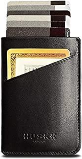 Slim RFID Wallets for Men Leather - Front Pocket Card Holder Sleeve - RFID BlockingBlack [Cscb]OneSize