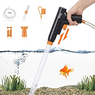 hygger Hand Grip Fish Tank Water Changer,New Quick Aquarium Gravel Cleaner with Air-Pressing Button Aquarium Siphon Vacuum...