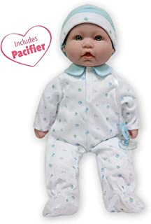JC Toys, La Baby 16-inch Washable Soft Body Blue Play Doll – For Children 2 Years..