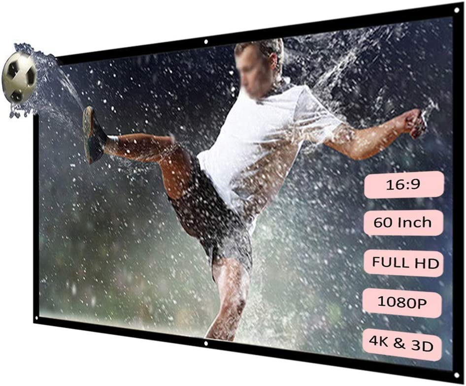YLHXYPP 60 72 84 100 120 Inch Projector HD White Super intense SALE 16:9 Max 76% OFF Dac Screen