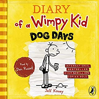 Dog Days     Diary of a Wimpy Kid, Book 4              Written by:                                                                                                                                 Jeff Kinney                               Narrated by:                                                                                                                                 Dan Russell                      Length: 2 hrs and 26 mins     3 ratings     Overall 5.0