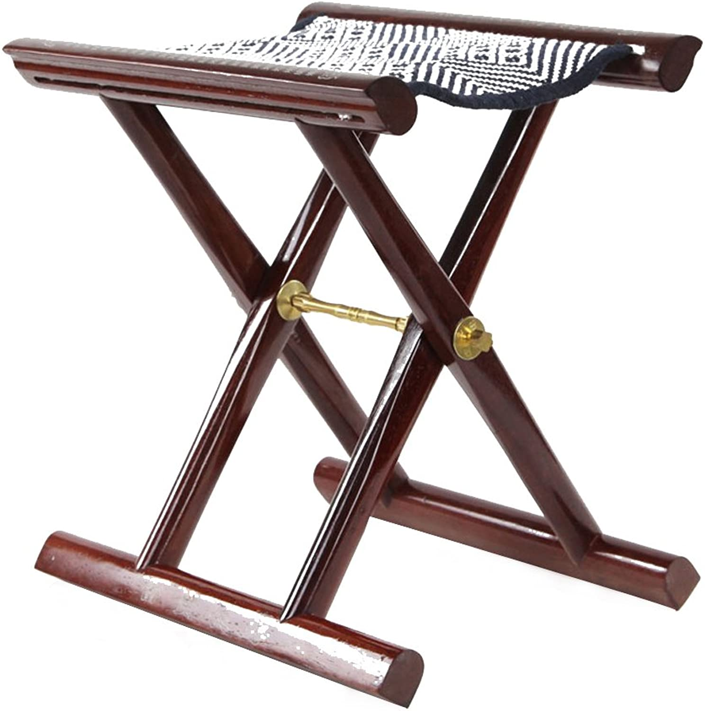 Footstool Wooden Fishing Foldable 33  26.5  35.5cm