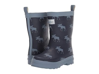 Hatley Kids Moose Silhouettes Rain Boots (Toddler/Little Kid) (Blue) Boy
