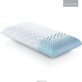 MALOUF Z Zoned Dough Gel-Infused Memory Foam Bed Pillow-5-Year U.S. Warranty- Queen- Mid Loft, Queen