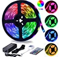 RGB LED Strip Lights with Remote, HengBo Color Change Rope Lights
