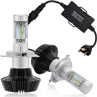 Autofeel【正規品】 ヘッドライト LED H4 6500K 8000LM DC12-24V ドライバーユニット搭載モデル 5年保証 車検対応 ホワイト 7HL-H4W-PHI-4000LM_BK