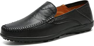 Italian Men Casual Shoes Summer Genuine Leather Men Loafers Moccasins Slip On Men's Flats