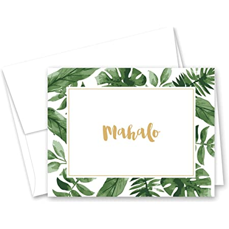 Hawaiian Note Cards Pineapple Thank You Cards Hula Note Cards Mahalo Note Cards Pineapple Note Cards