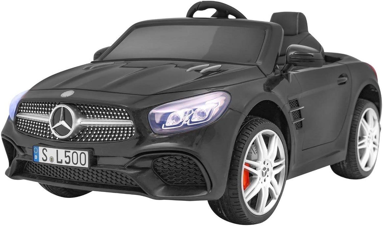 Tu satisfacción es nuestro objetivo BSD Coche Electrico para Niños Auto Alimentado Alimentado Alimentado con Batería Vehículo Eléctrico Control Remoto - Mercedes SL 500 - Negro  colores increíbles