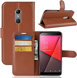 Vodafone smart N9 Case Cover,Premium PU Leather Flip Folio Wallet Case with Card Slot,Stand Holder and Magnetic Closure [T...
