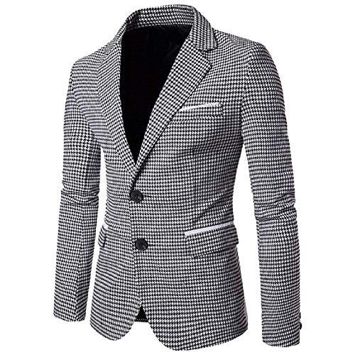 NOBRAND Casual Staggered Suit Blazer Slim Blazer formelle Wear Business Herren Anzug Gr. XL, schwarz...