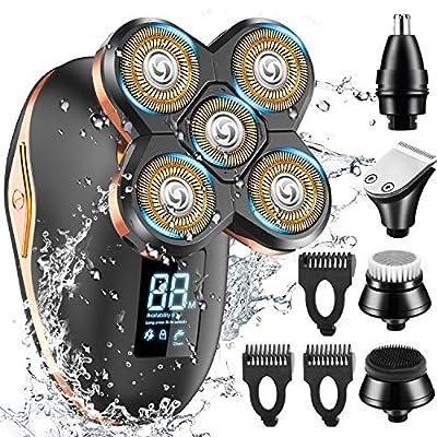 Electric Shaver for Men,GOOLEEN 5 in 1 Head Shavers for Bald Men Wet&Dry Waterproof Bald Head Shaver Electric Razor