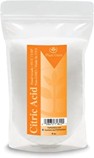 Citric Acid Powder 8 oz. 100% Pure Food Grade, Kosher, Non-GMO, for Cooking, Baking, Cleaning, Bath Bomb and Soap Making.