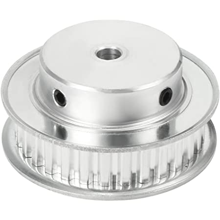 uxcell Aluminum XL 10 Teeth 6mm Bore Timing Belt Pulley Flange Synchronous Wheel for 10mm Belt 3D Printer CNC