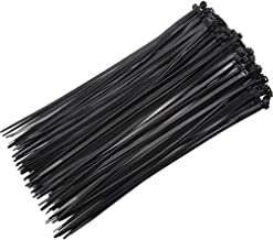 ELION Cable Zip Ties Heavy Duty 8 Inch - 150 Pieces, Multi-Purpose Nylon Ultra Strong Plastic Wire Ties, Durable Tensile Strength UV Resistant for, Home, Office, Garage and Outdoor(black)