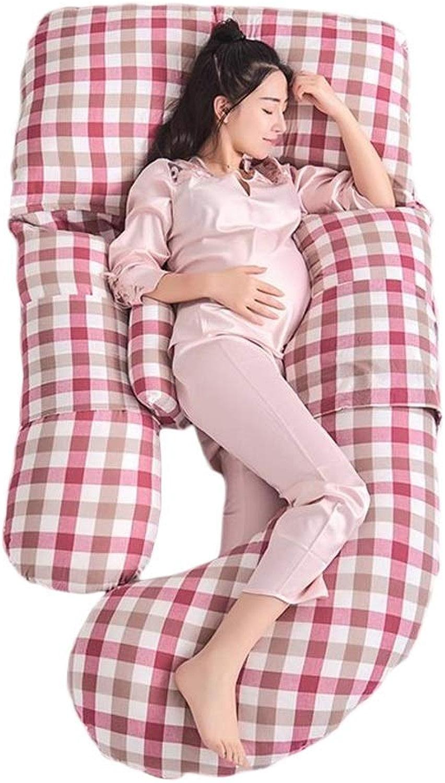 YSA Oreiller de Grossesse P Oreiller de maternité, Oreiller U de Soucravaten de Grossesse, Oreiller pour Le Corps avec Coton zippé 175x85cm (Couleur  8)