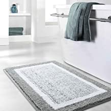 Bathroom Rug Mat, Grey Bath Rug Mat, Ultra Soft and Water Absorbent Bath Rug, Machine Wash/Dry, Plush Bath Mat for Bathroom, Living Room and Laundry Room.