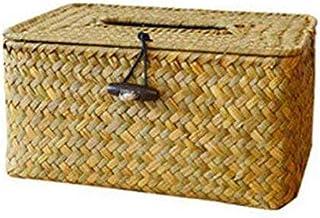 XYZMDJ Handgemaakte stro Tissue Box - Handgeweven Toilet Woonkamer Creatieve Multifunctionele Toilet Karton Tissue Box Hui...